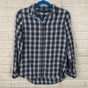 Madewell Women Flannel Slim Ex-Boyfriend Shirt